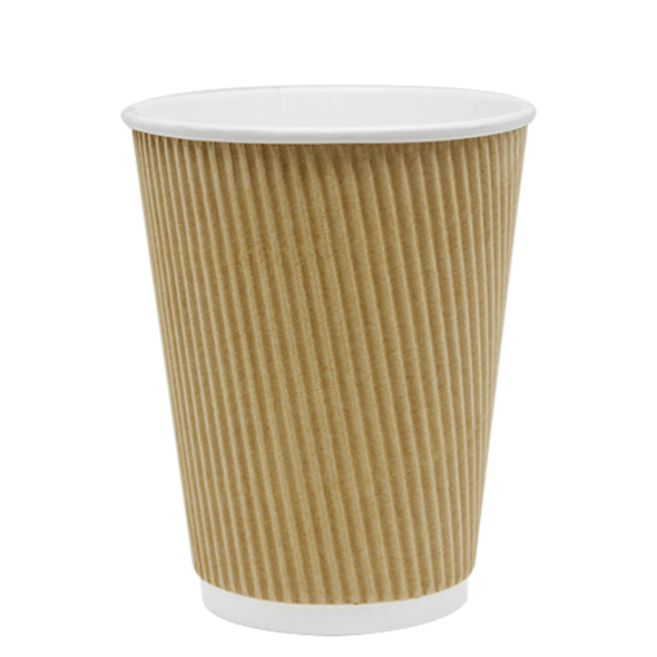 Karat 12oz Ripple Paper Hot Cup - Kraft 62mm 500ct
