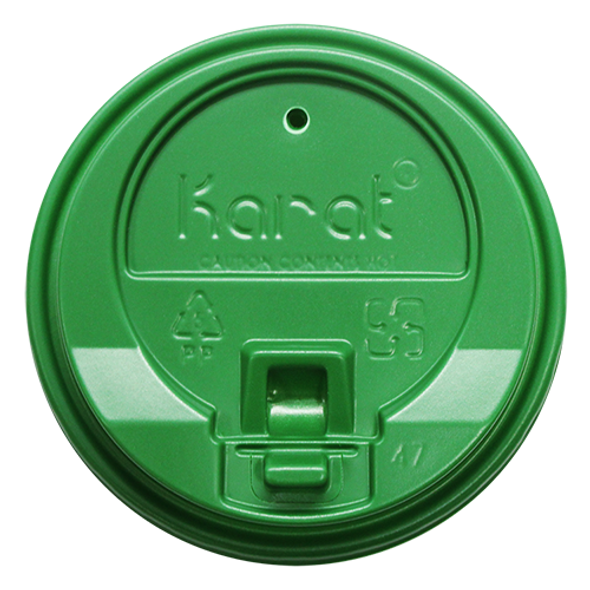 Karat 10-24oz Enclosure Sip Lids Green 90mm 1000ct