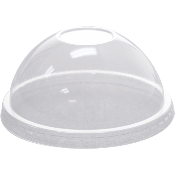 Karat 92mm PET Dome Lids No Hole - Clear 1000ct