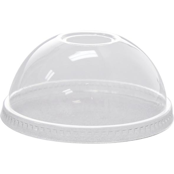 Karat 98mm PET Dome Lids w/ Hole - Clear 1000ct