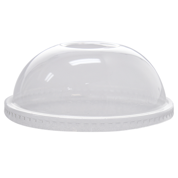 Karat 107mm PET Dome Lids - Clear 500ct