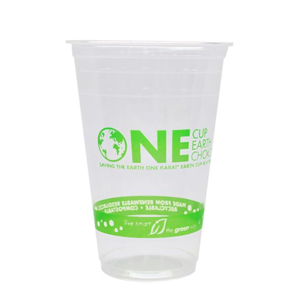 Karat Earth 20oz PLA Eco-Friendly Cups 98mm 1000ct