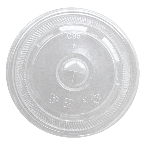 Karat 95mm PS Flat Lids - Clear 2000ct