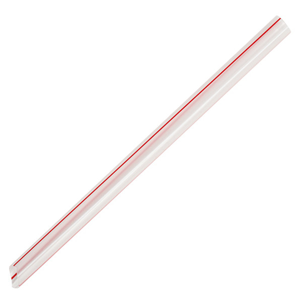 "7.5"" Boba Straws 10mm Mixed Color Striped 4500ct"