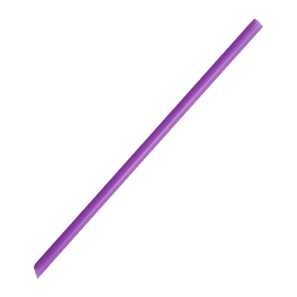 """7.75"""" Giant Straws 8mm Wrapped Purple 5000ct"""