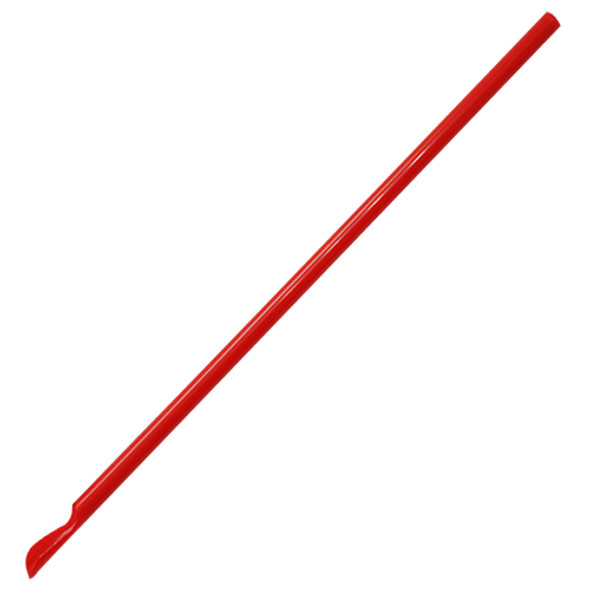 "9.45"" Spoon Straws - Red 6.5mm 10,000ct"