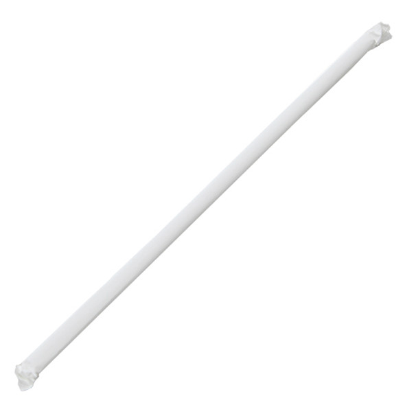 """10.25"""" Jumbo Straws 5mm Wrapped Clear 2000ct"""