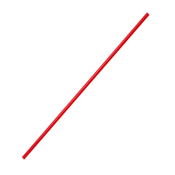 "7.5"" Cocktail Stir Straws 3mm - Red 5000ct"