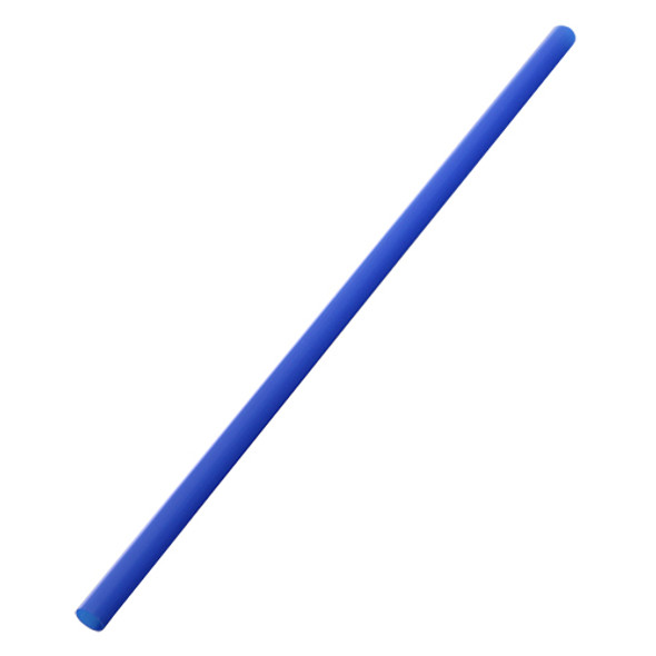 "9"" Giant Straws 8mm Wrapped - Blue 1200ct"