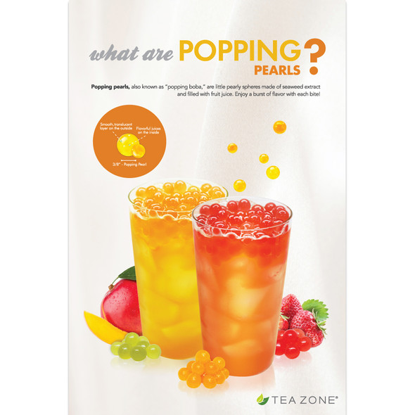 "TeaZone ""What Are Popping Pearls?"" Poster"