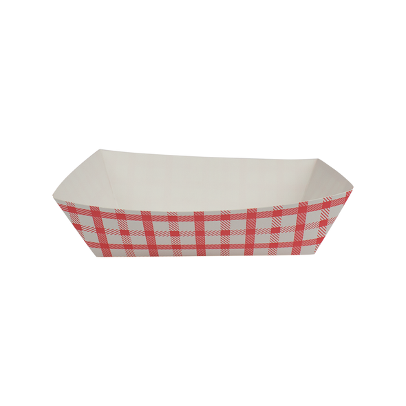 Food Tray Shepherd's Check White/Red 1000ct 2lb