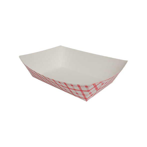 Food Tray Shepherd's Check White/Red 500ct 5lb