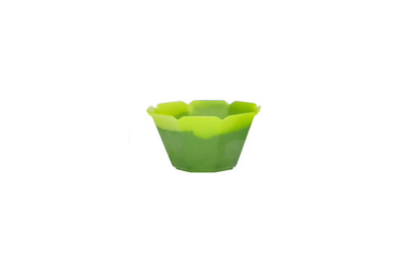 3oz MAGIC Color Changing® Flower Cup 500ct Neon Green-Dark Green