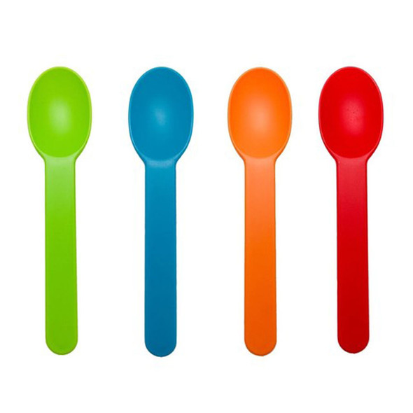 2, 4, or 6 Cases of Heavy Weight Flat Bio-Based Spoons