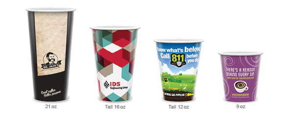 Custom Paper Hot Beverage Cups (Coffee & Tea)