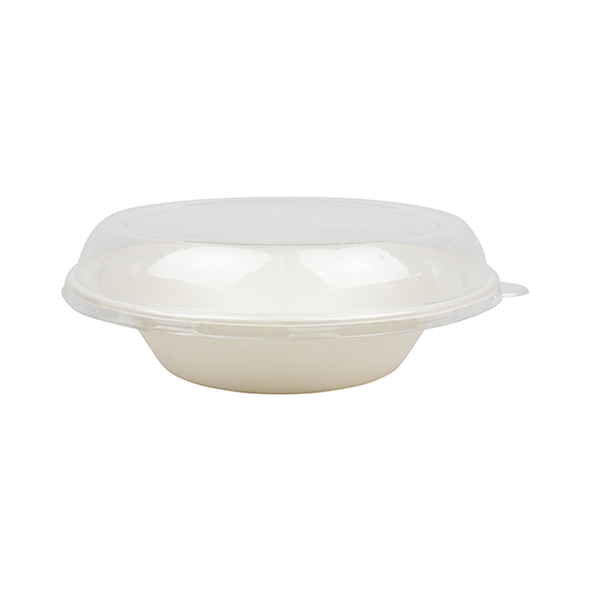 Karat PET Dome Lid for 24 oz. Bagasse Bowls - 200ct