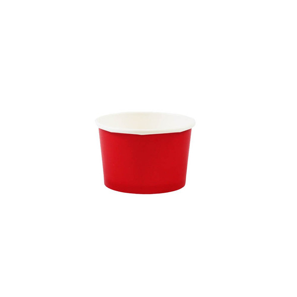 4oz Ice Cream/Froyo Cups 76mm 1000ct Red