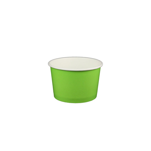 4oz Ice Cream/Froyo Cups 76mm 1000ct Green