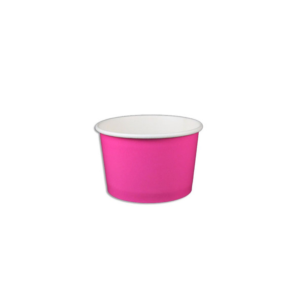 4oz Ice Cream/Froyo Cups 76mm 1000ct Pink