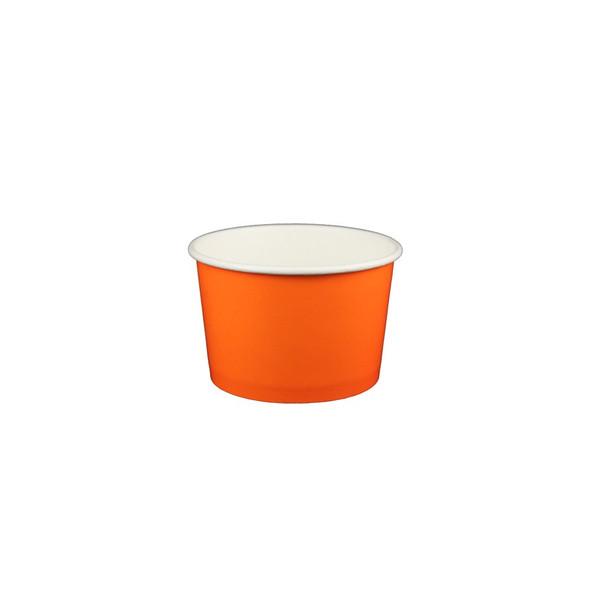 4oz Ice Cream/Froyo Cups 76mm 1000ct Orange