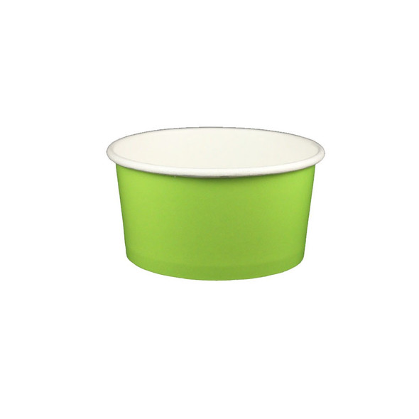 6oz Ice Cream/Froyo Cups 96mm 1000ct Green