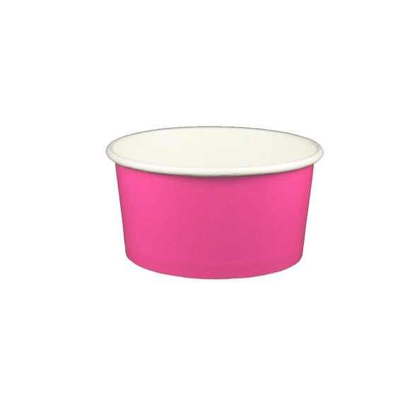 6oz Ice Cream/Froyo Cups 96mm 1000ct Pink
