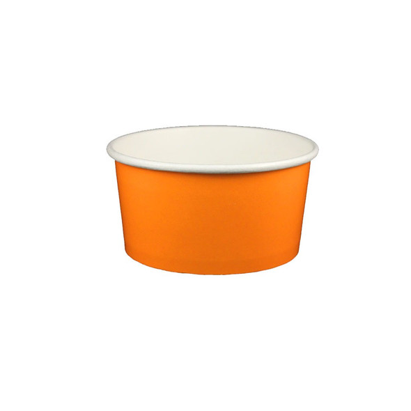 6oz Ice Cream/Froyo Cups 96mm 1000ct Orang