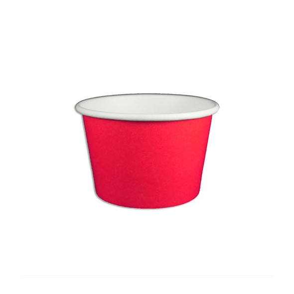 8oz Ice Cream/Froyo Cups 96mm 1000ct Red