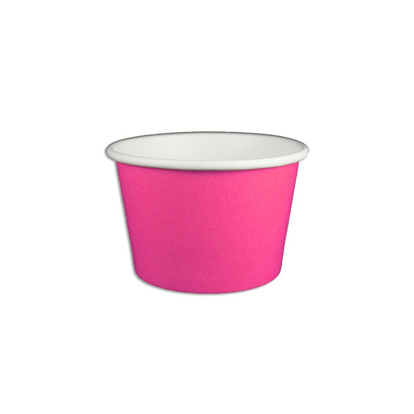 8oz Ice Cream/Froyo Cups 95mm 1000ct Pink