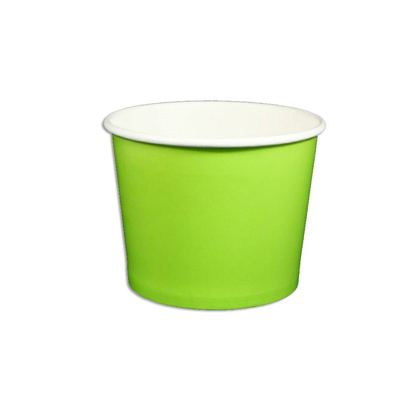 12oz Ice Cream/Froyo Cups 100mm 1000ct Green