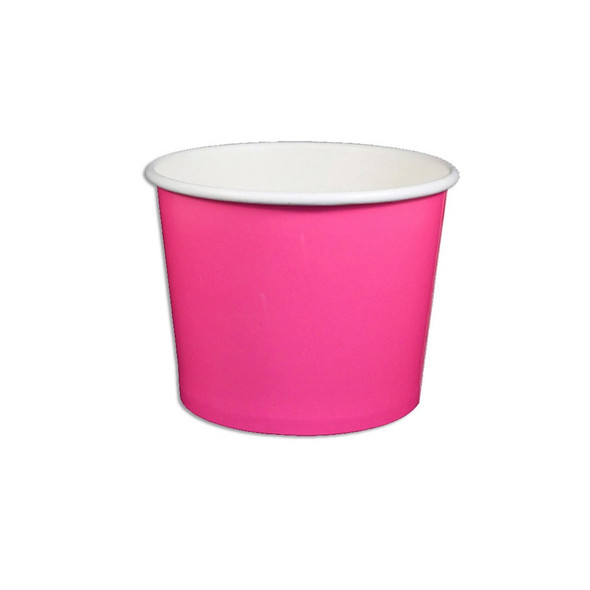 12oz Ice Cream/Froyo Cups 100mm 1000ct Pink