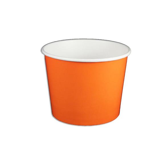 12oz Ice Cream/Froyo Cups 102mm 1000ct Orange