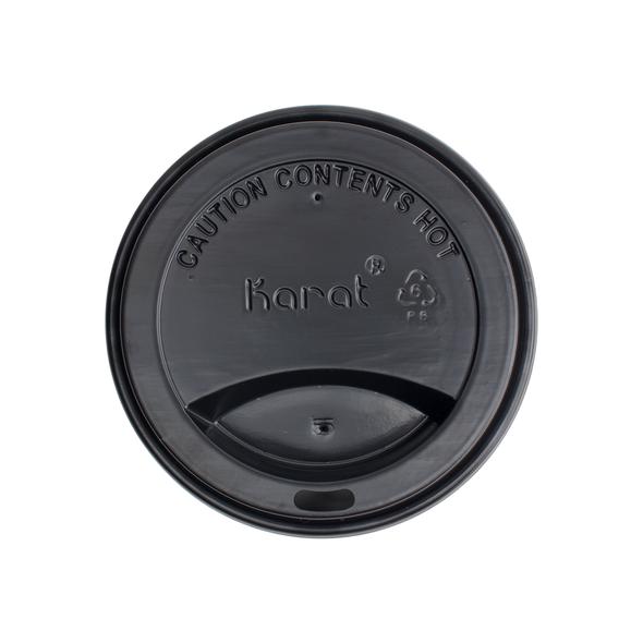 10-24oz Hot Sipper Dome Lids - Black 1000ct
