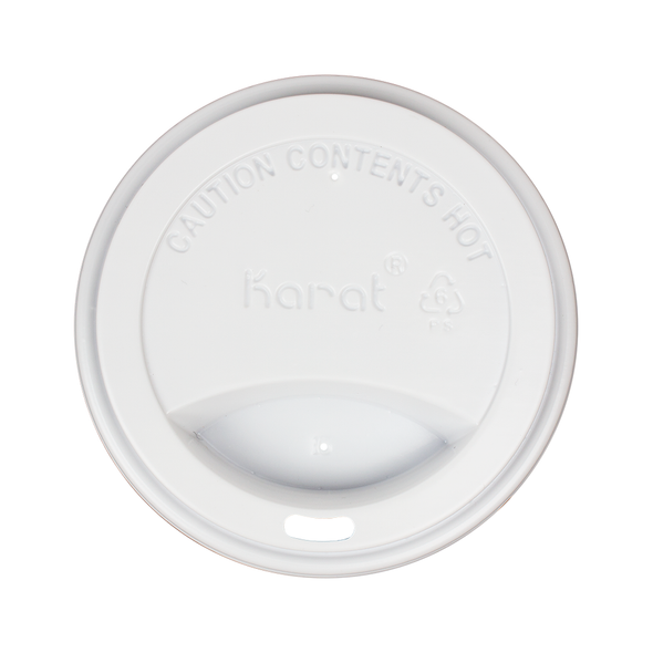 10-24oz Hot Sipper Dome Lids - White 1000ct