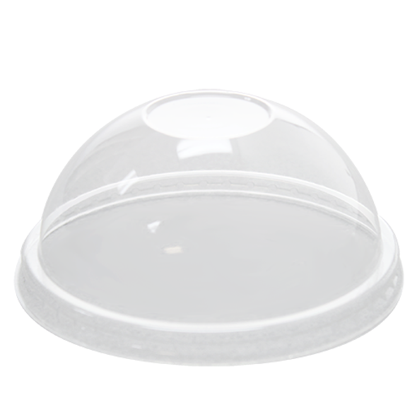102mm Rim PET Food Container Dome Lid No Hole 1000ct for 12 oz Froyo Cup