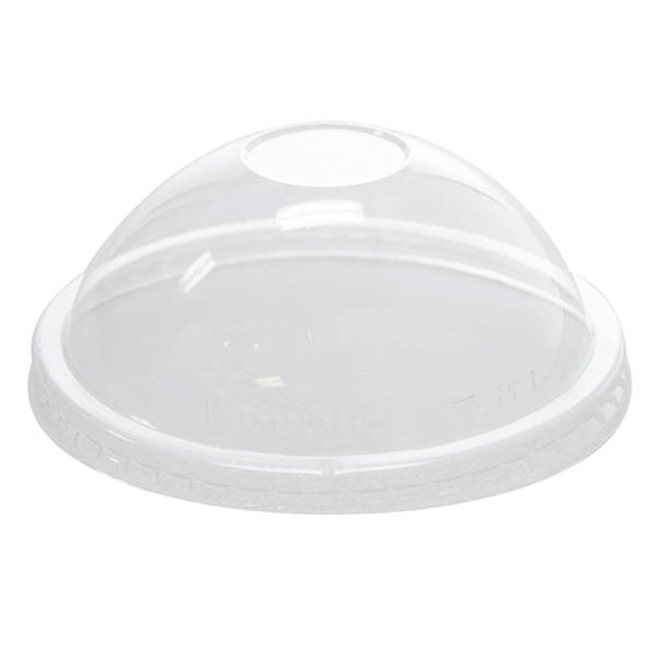 112mm Rim PET Food Container Dome Lid No Hole 1000ct for 16oz Froyo Cup