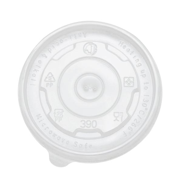 FSI 12 oz 102mm Rim PP Food Container Flat Lid 1000ct