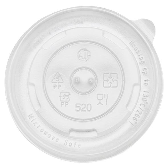 FSI 16 oz 112mm Rim PP Food Container Flat Lid 1000ct