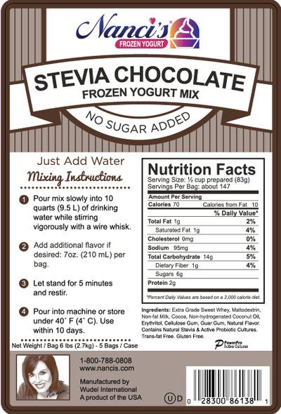 Nanci's Soft Serve Mix -Chocolate Powder Base Mix Stevia No Sugar Added