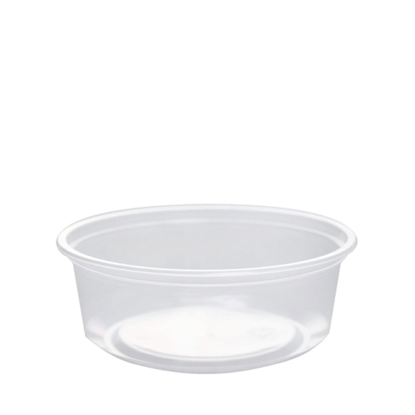 Frozen Solutions 8oz Clear PP Deli To-Go Containers - 500ct
