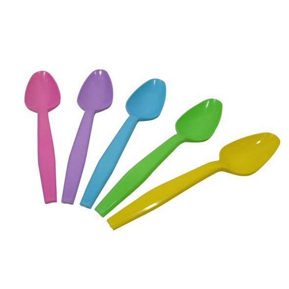 Frozen Solutions PP Medium Weight Tea Spoons Rainbow 1000ct