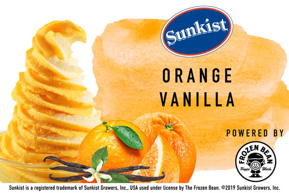 Sunkist Orange Vanilla Soft Serve Sorbet