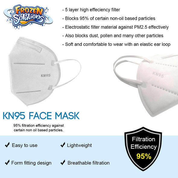 KN95 Face Mask - Shipping Included - 10 or 20 Pieces
