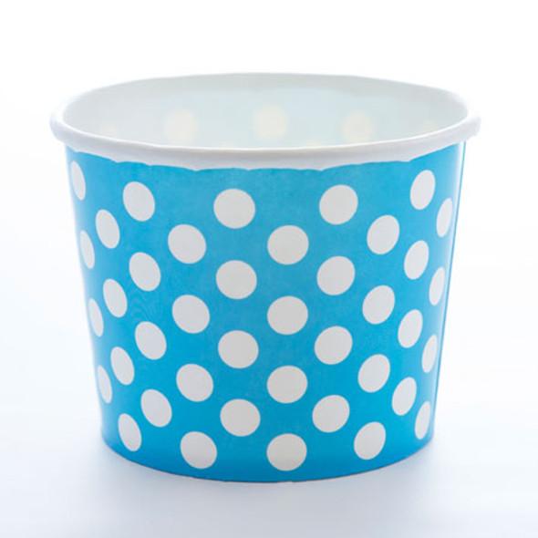 4oz Polka Dot Blue Made in the USA - 1,000 pcs