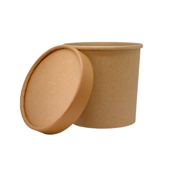 12oz Kraft To Go Containers 250ct With Matching Non Vented Lids