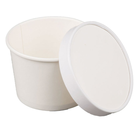 12oz White To Go Containers 250ct With Matching Non Vented Lids
