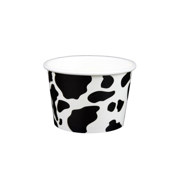 10oz Dairy Cow Print Ice Cream/Froyo Cups 96mm 1000ct
