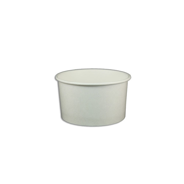 5oz White Ice Cream / Froyo Paper Cups 87mm 1,000ct