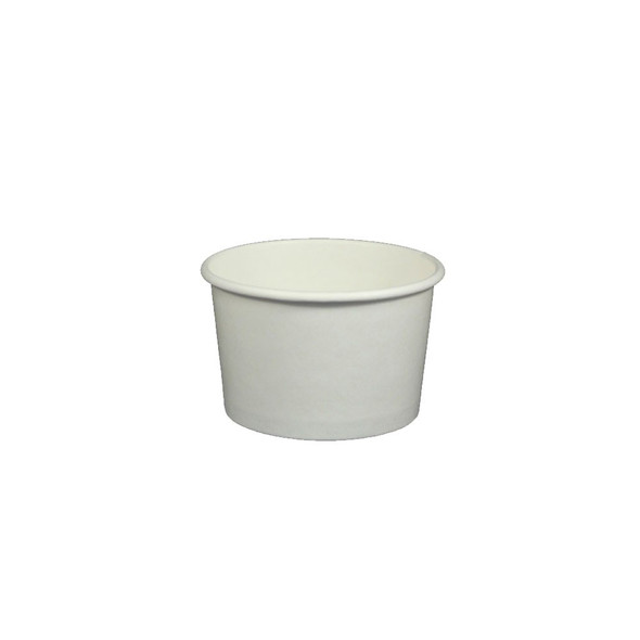 4oz White Ice Cream / Froyo Paper Cups 76mm 1,000ct