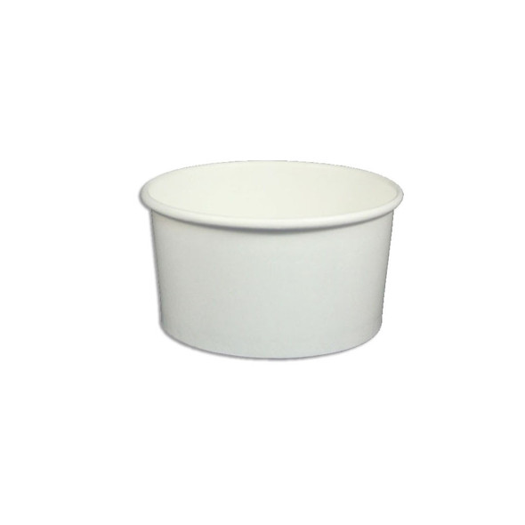 6oz White Ice Cream / Froyo Paper Cups 96mm 1,000ct